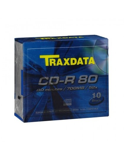 TRAXDATA OPTIČKI MEDIJ CD-R SLIM BOX 10