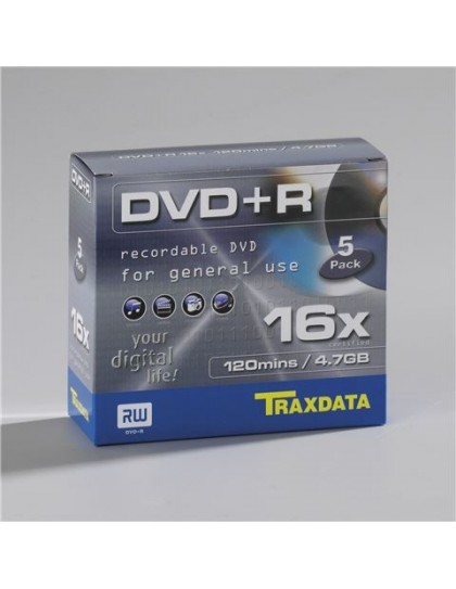 TRAXDATA OPTIČKI MEDIJ DVD+R 16X BOX 5