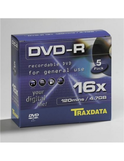 TRAXDATA OPTIČKI MEDIJ DVD-R 16X BOX 5