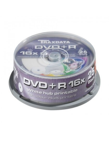 TRAXDATA OPTIČKI MEDIJ DVD+R 16X CAKE25 WHITE FULL PRINTABLE