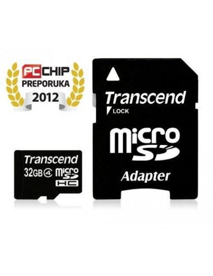 Memorijska kartica Transcend SD MICRO 32GB HC Class4 + SD adapter