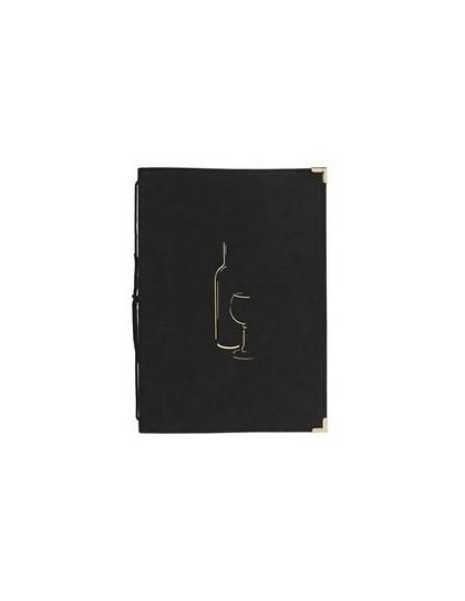 Vinska karta s dva dupla uložka, 8 stranica