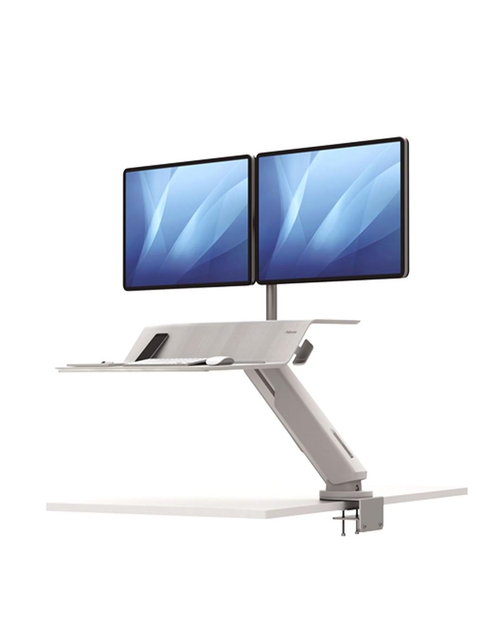 Lotus RT Sit-Stand za dva monitora BIJELO