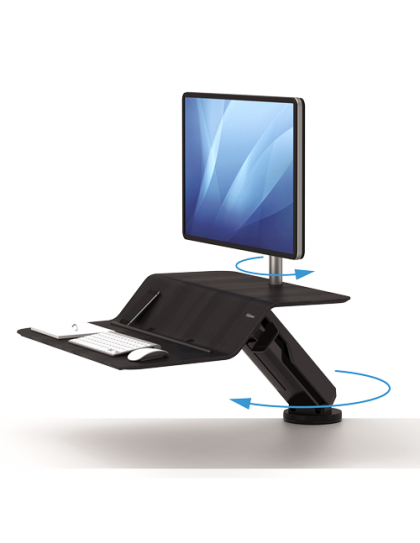Lotus RT Sit-Stand za jedan monitor CRNO