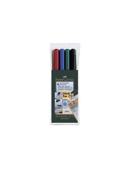 MARKERI PERMANENTNI Multimark 1525 Set od 4 boje Faber Castell