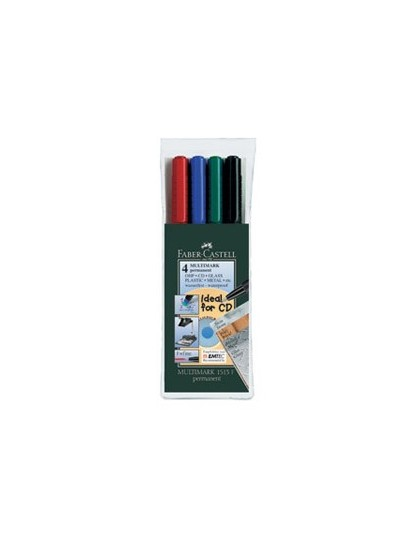 MARKERI PERMANENTNI Multimark 1513 Set od 4 boje Faber Castell