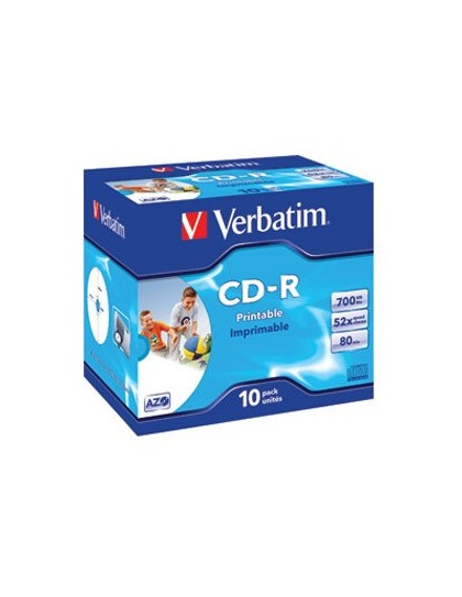 CD-R, 700 MB, 52x, AZO Verbatim