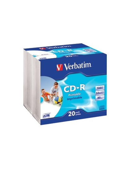 CD-R, 700 MB, 52x, AZO, set od 20 CD-a Verbatim