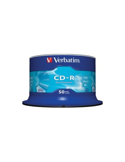 CD-R, 700 MB, 52x, Extra protection površina, set od 50 CD-a Verbatim