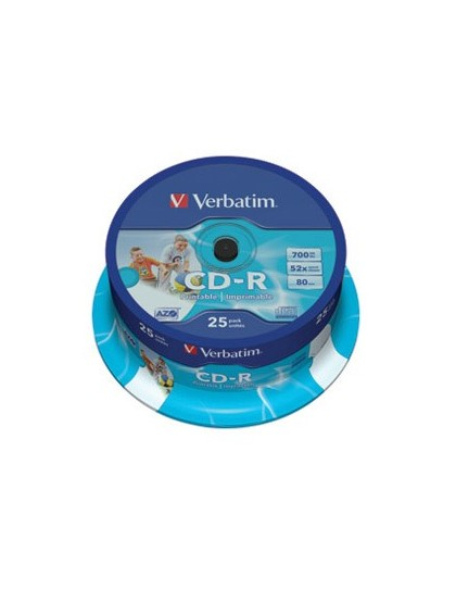 CD-R, 700 MB, 52x, AZO, set od 25 CD-a Verbatim