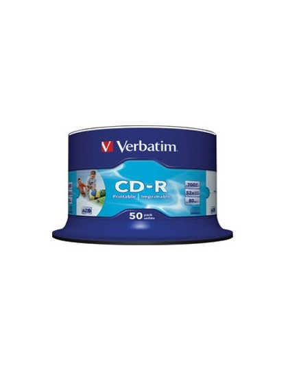 CD-R, 700 MB, 52x, AZO, set od 50 CD-a Verbatim