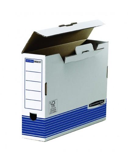 Arhivska kutija Folio Plavo bijela System Fellowes